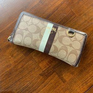 Coach medium zip around wallet